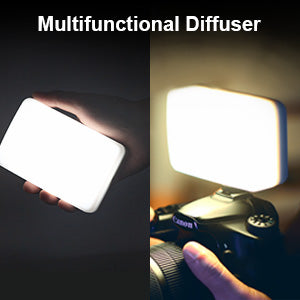 Moman ML3-D Dimmable Video Light with Silicone Diffuser (Silver)