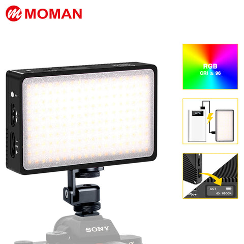 Moman ML3-D Dimmable Video Light with Silicone Diffuser (Black)