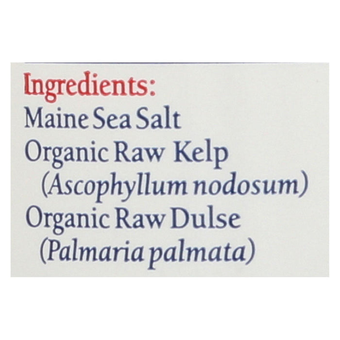 Maine Coast Organic Sea Seasonings - Sea Salt With Sea Veg - 1.5 Oz Shaker
