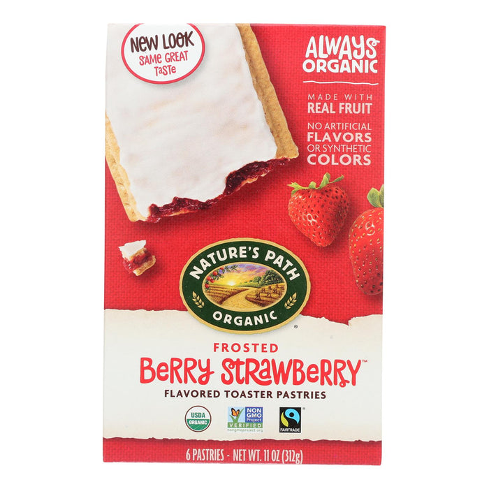 Nature's Path Organic Frosted Toaster Pastries - Berry Strawberry - Case Of 12 - 11 Oz.
