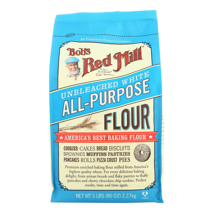 Bob's Red Mill - Unbleached White All-purpose Baking Flour - 5 Lb - Case Of 4