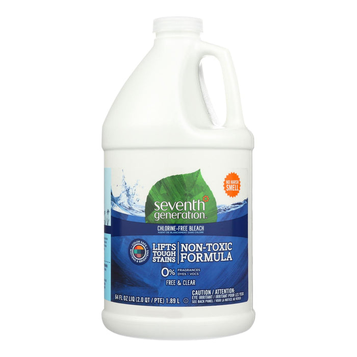 Seventh Generation Chlorine Free Bleach - Free And Clear - Case Of 6 - 64 Fl Oz.