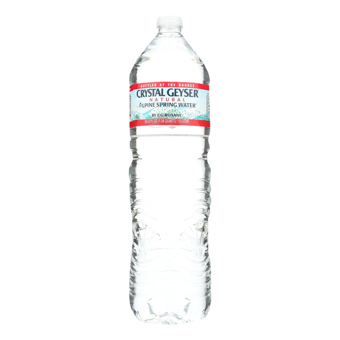 Crystal Geyser Alpine Spring Water - Case Of 12 - 50.7 Fl Oz.