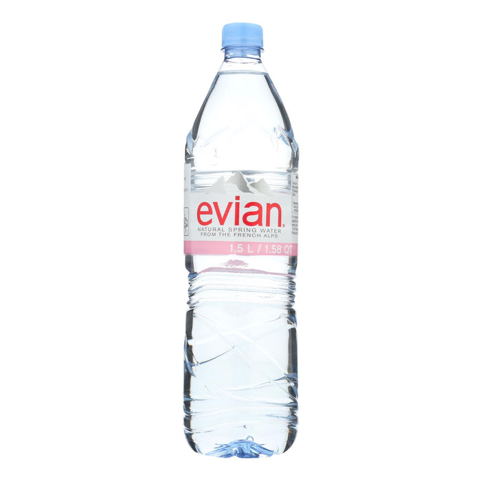 Evians Spring Water Natural Spring Water - Water - Case Of 12 - 50.7 Fl Oz.