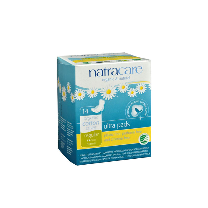 Natracare Natural Ultra Pads W-wings Regular W-organic Cotton Cover -  14 Pack