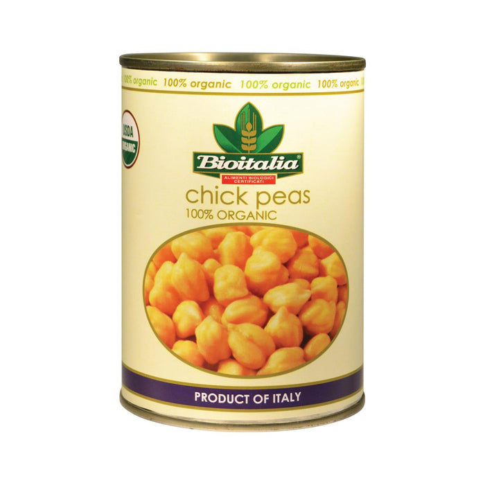 Bioitalia Organic Beans - Chick Peas - Case Of 12 - 14 Oz.