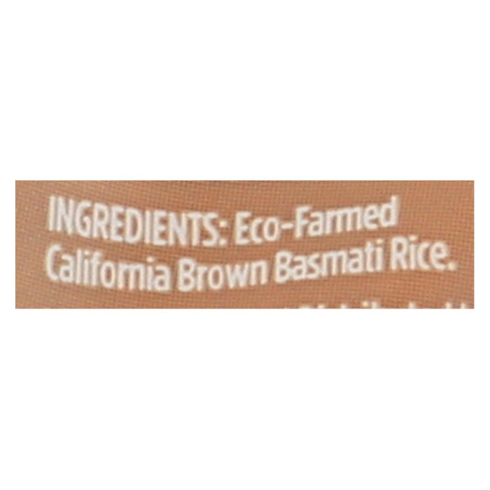 Lundberg Family Farms Organic Brown Basmati Rice - Case Of 6 - 2 Lb.
