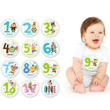 Newborn Baby First Year Monthly Milestone Belly Stickers Growth Tracking Stickers