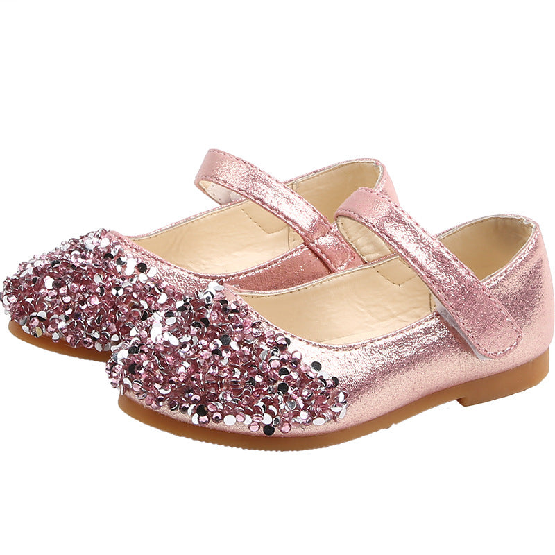 New Girls Glitter Princess Shoes Casual Dance Shoes