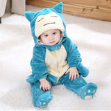 Newborn Baby Cartoon Snowsuit Winter Warm Fleece Hooded Jumpsuit Coat