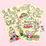 Creative DIY Color Sand Art Kit Children Educational Doodle Painting Cards Toys