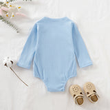 Newborn Baby Boys Girls Long Sleeve Solid Kimono Romper