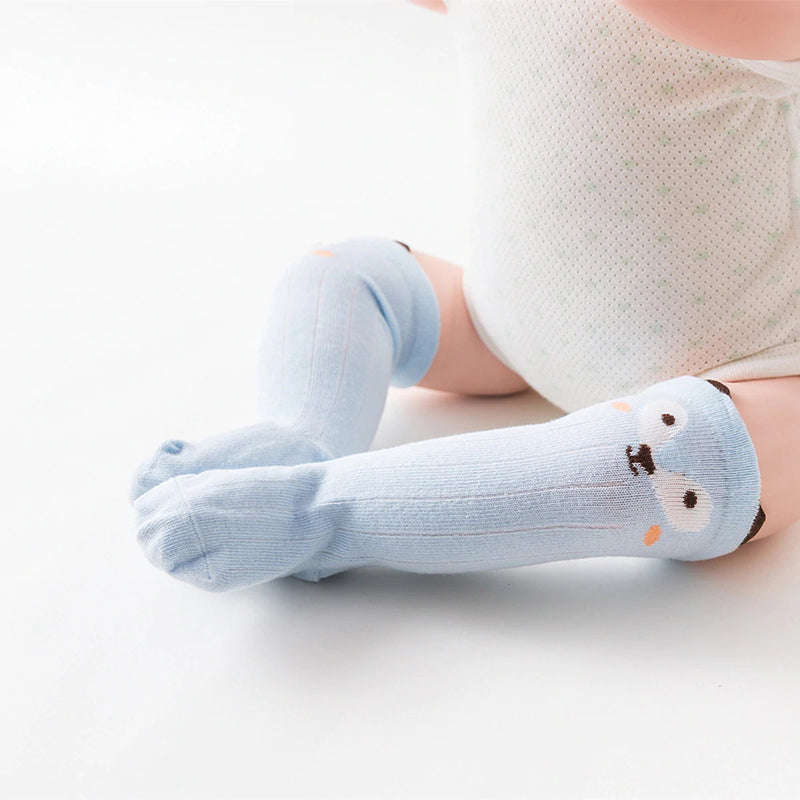 Unisex Cotton Long Socks Toddler Baby Non-Slip Knee High Stockings