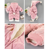 Baby Boys Girls Winter Snowsuit Outerwear Thick Cotton Hooded Warm Jumpsuit