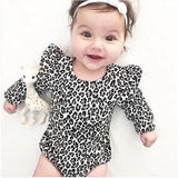 Newborn Baby Girl Cotton Clothes Leopard Long Sleeve Bodysuits