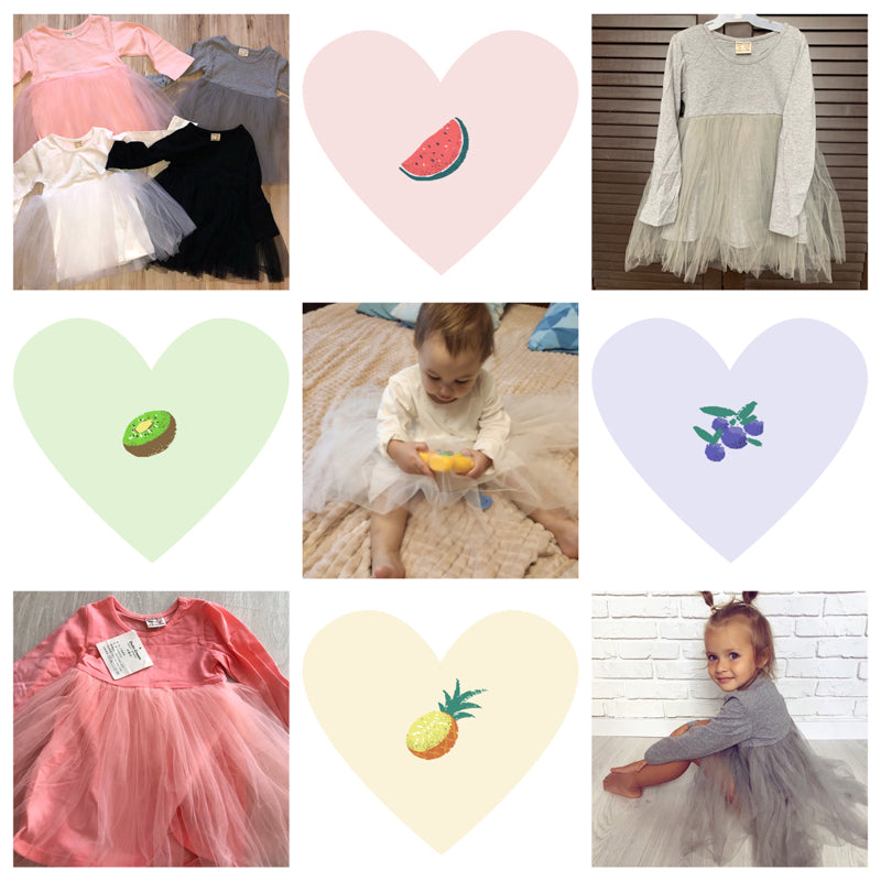 Toddler Girls Long Sleeve Solid Color Tulle Dress Party Clothes Princess Outfit