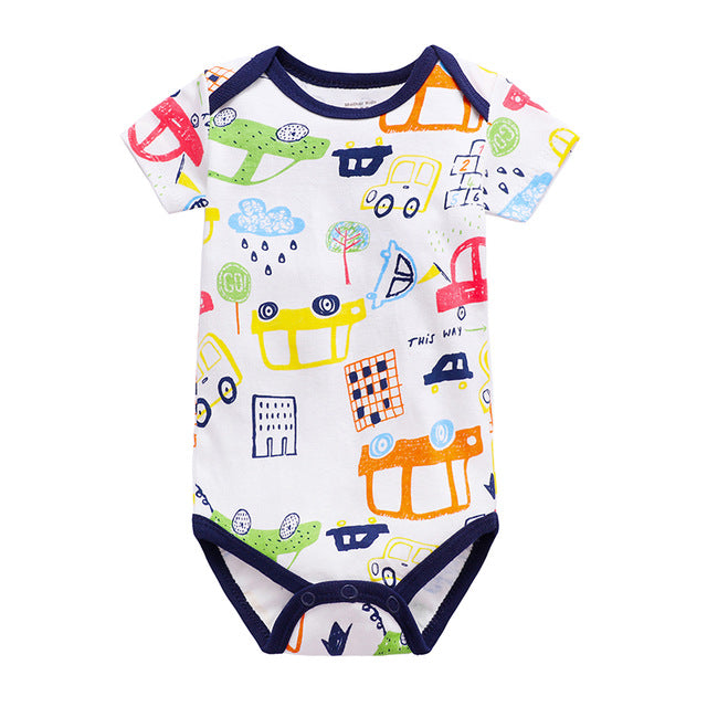 Summer Infant Triangle Romper Short Sleeve Onepiece Jumpsuit