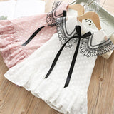 Summer Girls Lace Sleeveless A-Line Dress Princess Party Dress