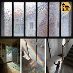 Glistening Rainbow Effect Window Film - Home Atlantis