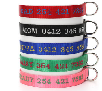 Customized embroidery for Pet Collars
