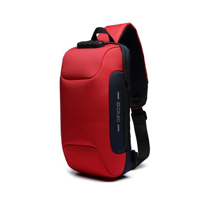 Multifunctional Shoulder Bag Anti-Theft Waterproof Chest Bag USB
