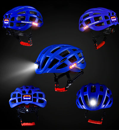 Cycling Helmet With USB Rechargeable Light