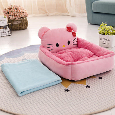 Golden Teddy Nest Pet Bed