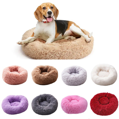 Round Plush Pets Bed House