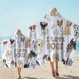 Serviette De Plage Xxl<br> Love Dog