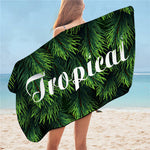 Serviette De Plage<br> Exotique Tropical