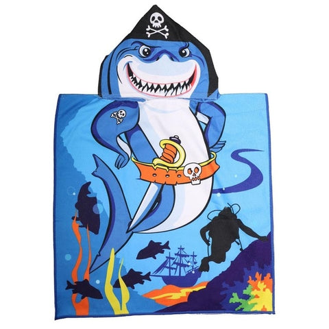 Serviette De Plage Enfant<br> Requin Pirate