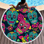 Serviette De Plage Ronde<br> Tradition Mexicaine