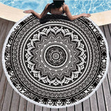 Serviette De Plage Ronde<br> Illusion