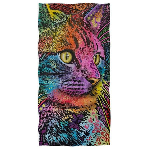 Serviette De Plage Chat Art | Serviette De Plage