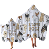 Serviette De Plage Xxl Love Dog