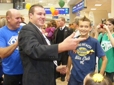 lds mission shirts at airport welcoming home returned missionary