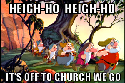 Mormon meme heigh ho its off to work we go