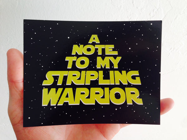 A Note To My Stripling Warrior Postcard (5-pack)