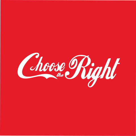 Women's Choose the Right shirt - Coca Cola Style