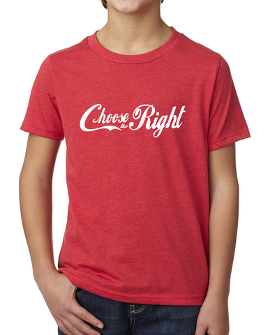 Youth Choose the Right Shirt - Coca Cola Style