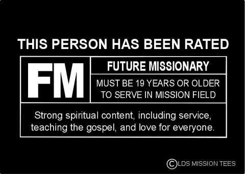 Rated FM For Future Missionary Shirt - Youth Girls