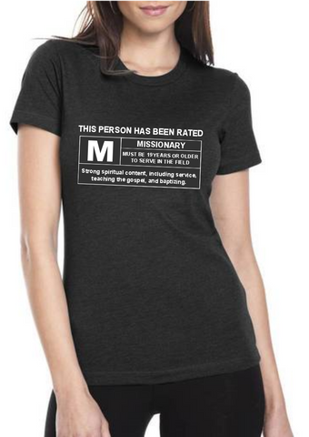 Women's Rated M For Missionary Shirt