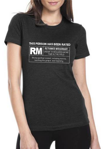 Rated RM for Returned Missionary Shirt - Women's