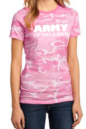 Army of Helaman Pink Camo Shirt - Women's