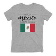 Women's Mexico Ciudad Juarez Mission shirt - black print