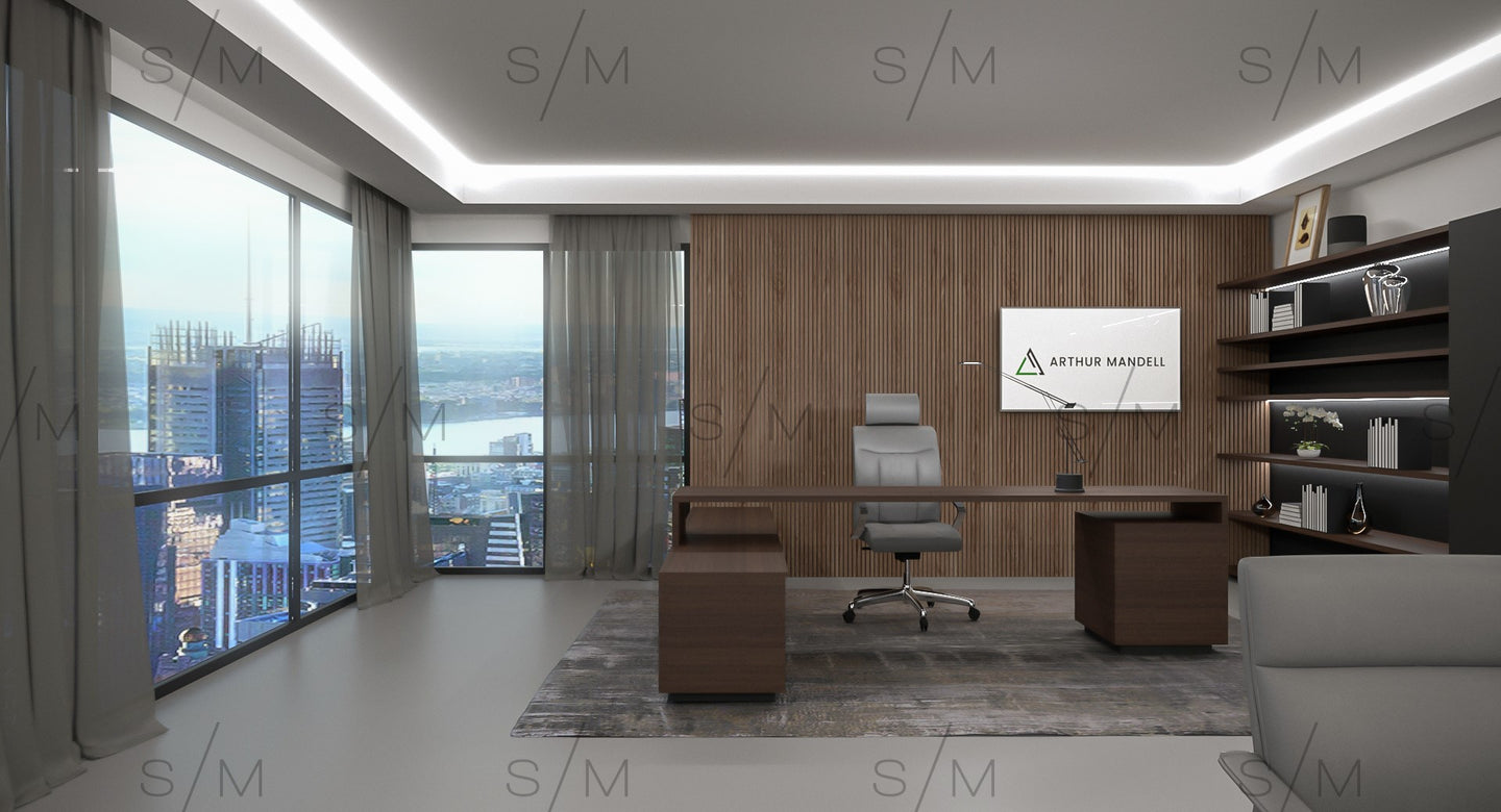 Virtual Background - Executive Office - Template
