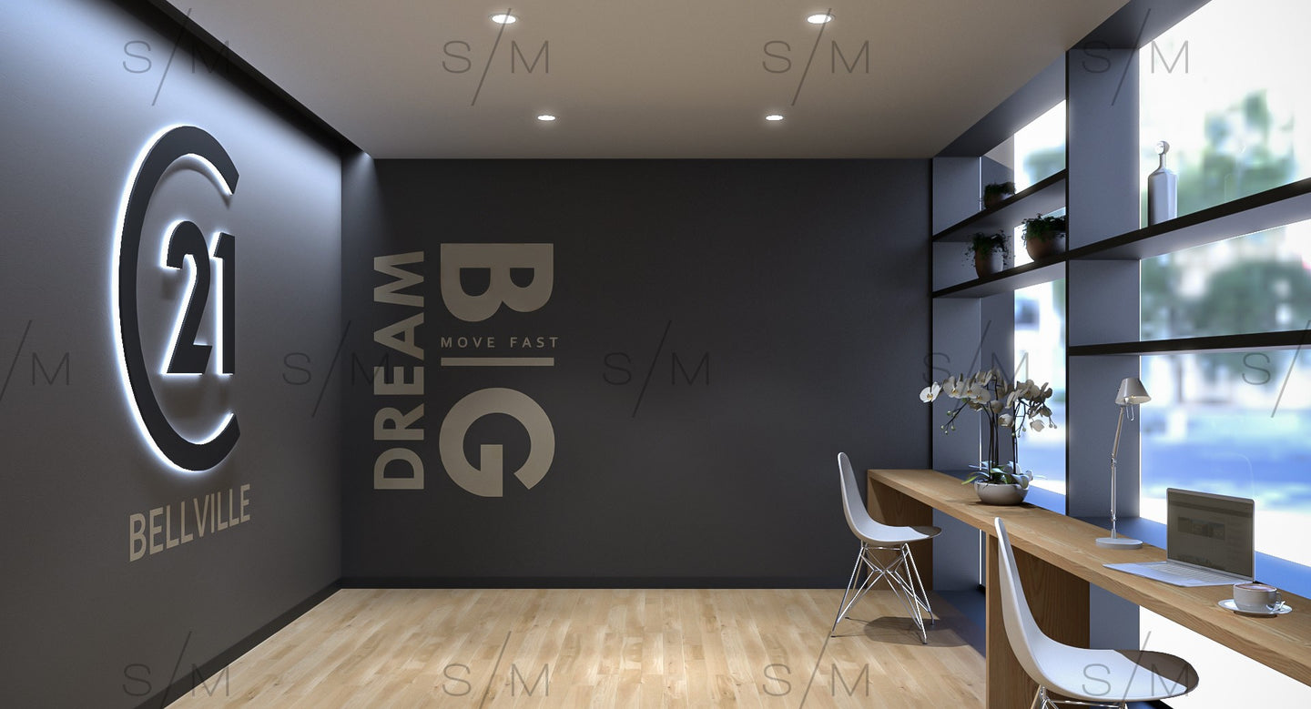 Virtual Background - Open Plan Office - Template