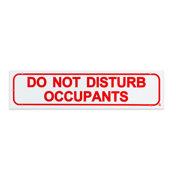 Rider Sign-DO NOT DISTURB OCCUPANTS