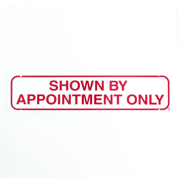 Rider Sign-SHOWN BY APPOINTMENT ONLY