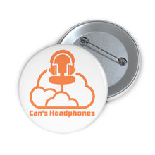"Load image into Gallery viewer, ""Can's Headphones Logo"" Button"
